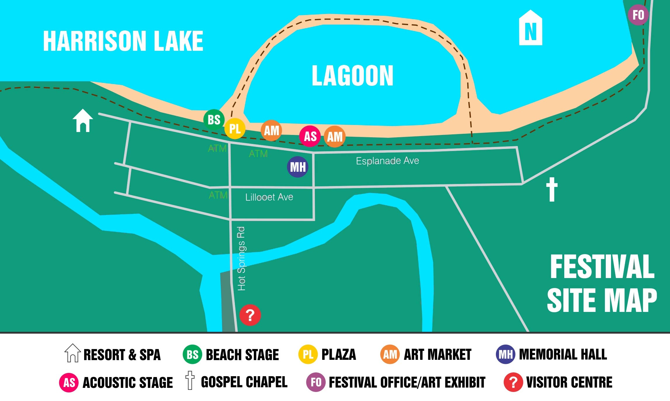 Harrison Hot Spring Music and Art Festival | Site Map