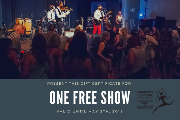 1 Free Show Gift Certificate